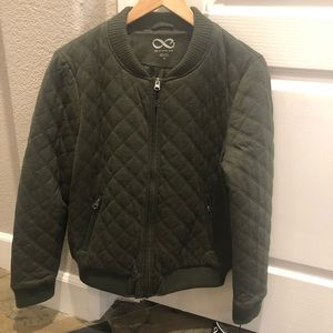 Bomber Jacket by Be Boundless Olive Quilted Sz M